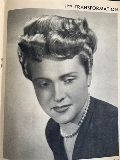 1940s Evening Hairstyles by A Look Inside Quot La Coiffure De 1948 1952
