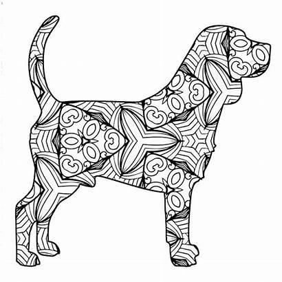 Coloring Pages Animal Geometric Printable Mandala Dog