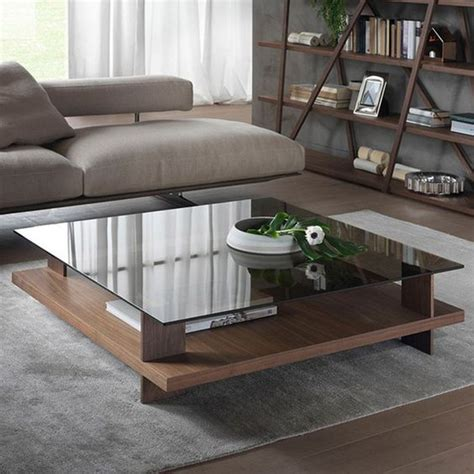 Ivinta glass coffee table round industrial design with wood frame for living room home dining room,32inch. 29 Chic Glass Coffee Tables That Catch An Eye - DigsDigs