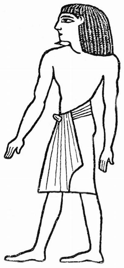 Ancient Egypt Clipart Egyptian Drawing Figures Colouring