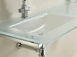 Credence Lavabo Salle De Bain : bering 1 2 lavabo en verre salle de bain ~ Dode.kayakingforconservation.com Idées de Décoration