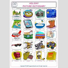 Holiday Picture Dictionary Word To Learn Esl Worksheets For Kids And New Learners