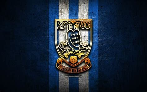 Download wallpapers Sheffield Wednesday FC, golden logo ...