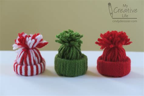 yarn hat ornaments fun family crafts