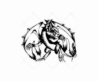 Dragon Sketch Vectors Scary Graphic Skulls Magic