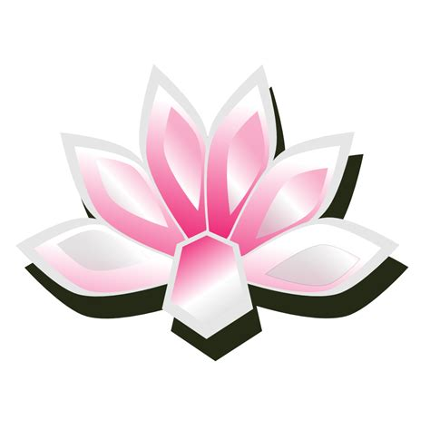Clip Art Abstract Lotus Yoga Scalable