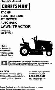 Craftsman 917272082 User Manual Lawn Tractor Manuals And