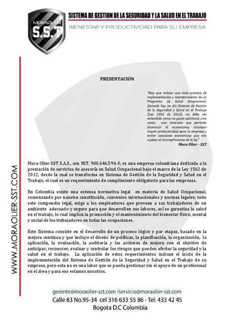 Carta Presentacion Empresa Pdf
