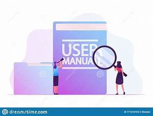 User Manual  Guide Book Or Technical Instruction Concept