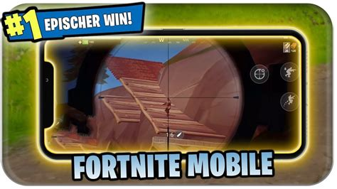 fortnite auf handy ersten win holen fortnite mobile