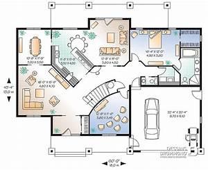 Plan Maison 6 Chambres : plan maison 6 chambres 4 5 garage 4833 dessins drummond ~ Voncanada.com Idées de Décoration