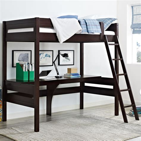 bunk beds with desk alfred loft bed with desk reviews wayfair