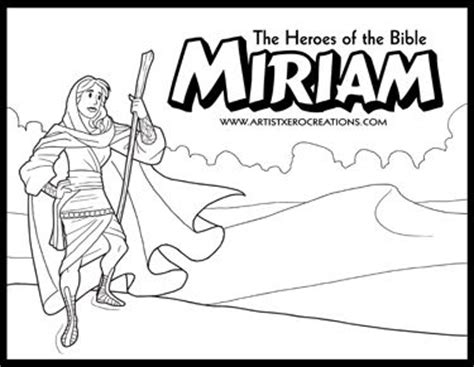 heroes   bible coloring pages miriam