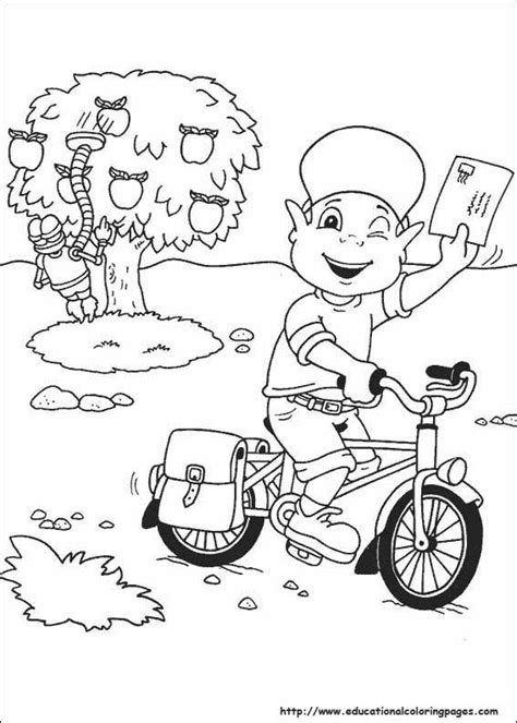 De Postbode Kleurplaat by Adiboo Coloring Pages Educational Coloring