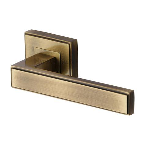 door handles door handles  rose linear sq heritage brass door handle lever latch