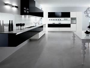 cuisine blanche sol noir kirafes With cuisine blanche sol noir