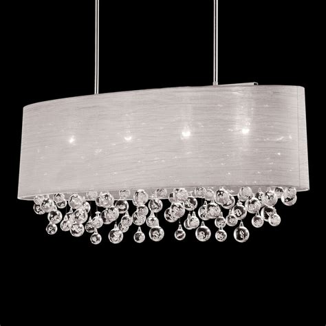 chandelier l shade nib 4 l oval drum shade pendant with tear balls