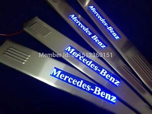 Illuminated Door Sill LED Scuff Plate For Mercedes Benz ...