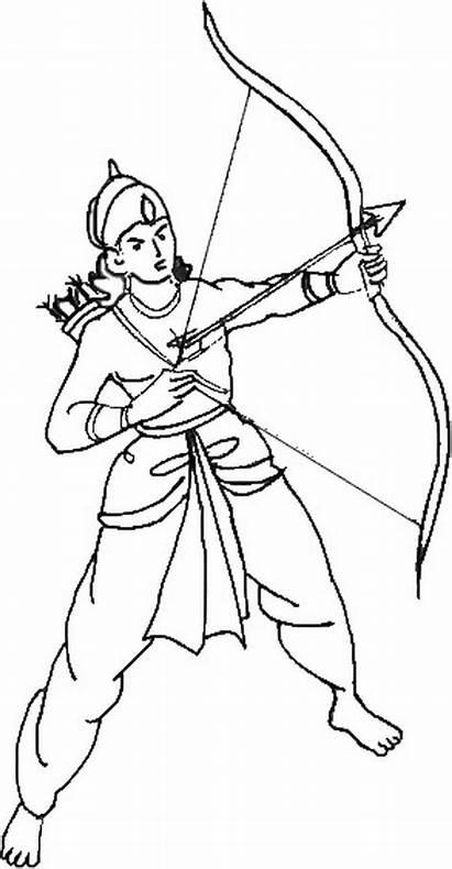 Ram Coloring Pages Navami Rama Sketch Sita