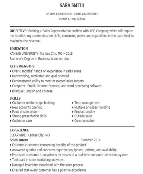 sample sales job resume templates