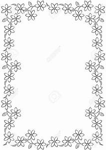 Best Black And White Flower Border #15721 - Clipartion.com