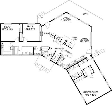 shaped ranch house plans click  view house plan main floor plan house plans pinterest