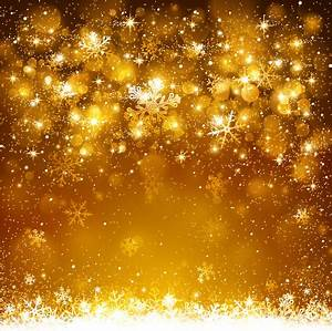 Golden snowflake christmas shiny background Free vector in ...