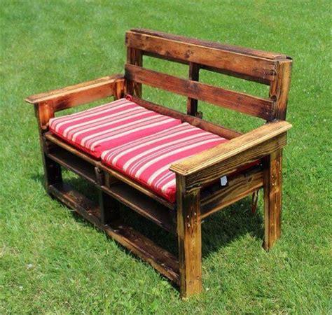 diy large pallet garden bench  pallets