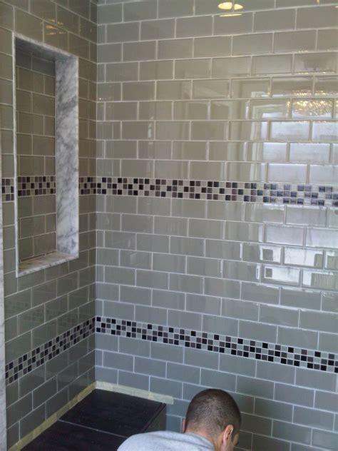 great ideas  glass tile  bath
