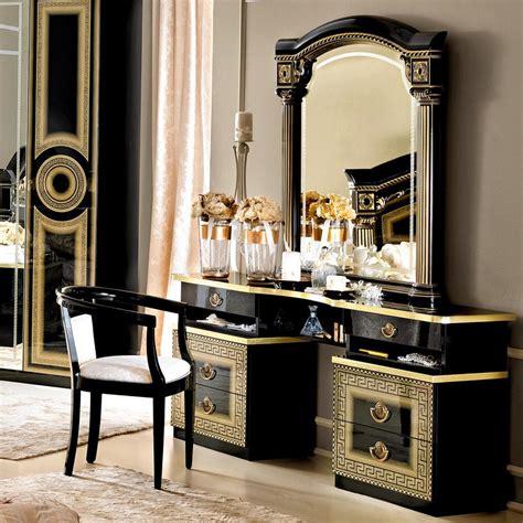 italian medusa black high gloss gold  silver dressing