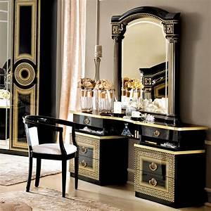Aida Home Design Italian Medusa Black High Gloss Gold Or Silver Dressing
