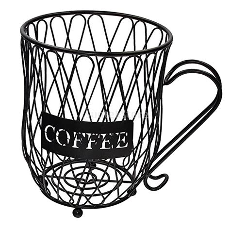 These coffee cup holders help you save space in your kitchen and keep it organized and you can easily and quickly access them. Coffee Cup Holder Drink Bottle Can Storage Basket Wall ...