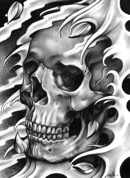 Skull Petals Art Print Love