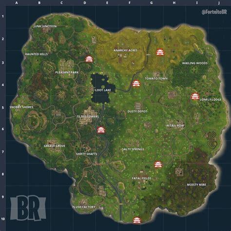 die fundorte aller  schreine auf der map  fortnite