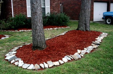 best mulch for flower beds amazing green landscaping ideas mulch and rock with shrubs and trees homelk com