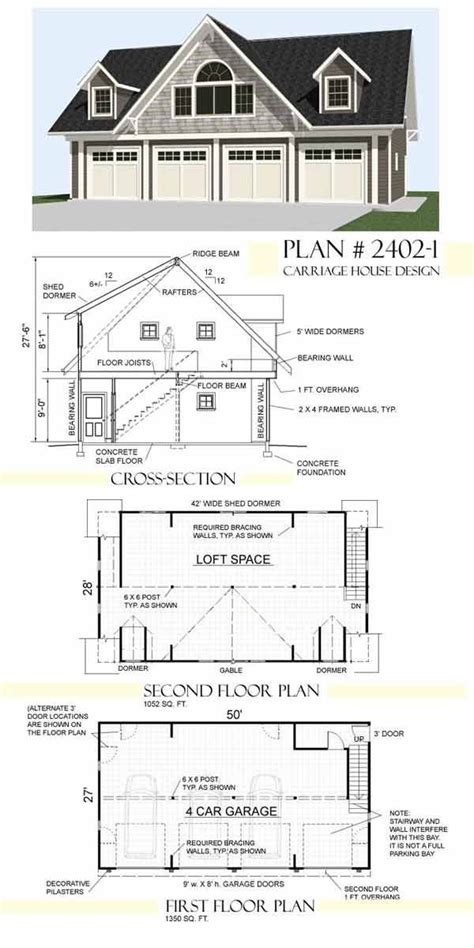 Stunning Images Story Garage Plans With Loft by Best 25 Carriage House Plans Ideas On Garage