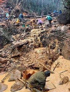 Mining site at Zahamena National Park, Madagascar | Gems ...