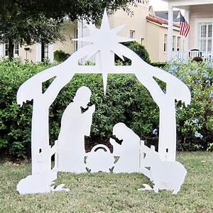 Amazon com: Teak Isle Christmas Outdoor Nativity Set, Yard