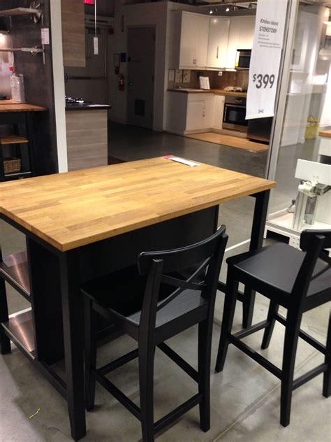 Ikea Stenstorp Kitchen Island Dark Oak  Back Kitchen