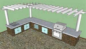 outdoor kitchen building plans outdoor kitchen plans free howtospecialist how to