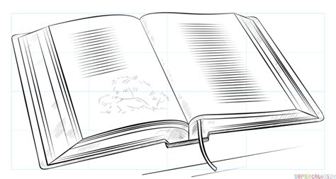 draw  open book step  step drawing tutorials