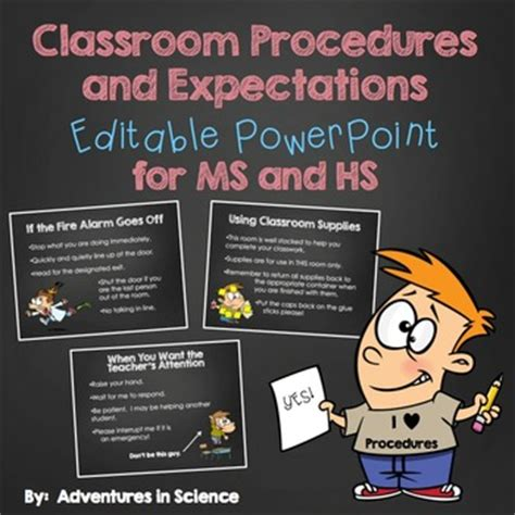 classroom procedures  expectations editable