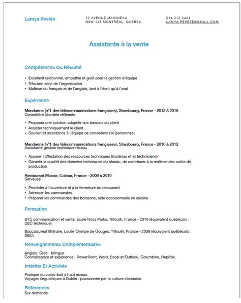 Curriculum Vitae Or Resume Canada by Le Guide Des Pvtistes Au Canada Page 18 De 32 Pvtistes Net