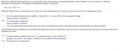 solved determine whether the following function is a poly chegg
