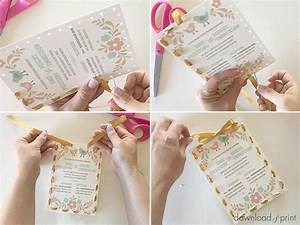 ribbon stitch handmade wedding invitation With wedding invitations tied with ribbon