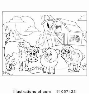 Farm Scene Black And White Clipart - Clipart Suggest
