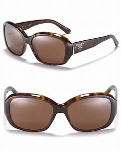 """Prada """"Timeless Heritage"""" Handbag Logo Oval Sunglasses in ..."""