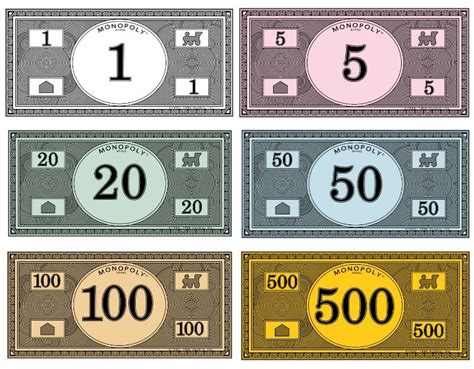 printable money template where to print your own monopoly money