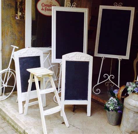 shabby chic wedding decorations hire chalkboards white ladder white easels for