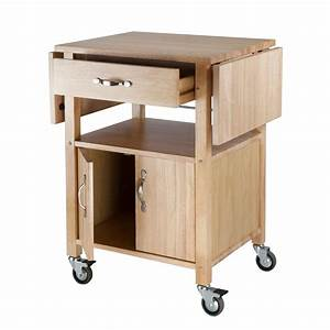 Amazon com - Winsome Wood Drop-Leaf Kitchen Cart - Bar